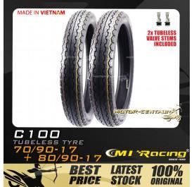 CMI RACING TUBELESS TYRE C100 70/90-17 + 80/90-17