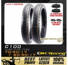 CMI RACING TYRE C100 70/90-17 + 80/90-17 + TUBES