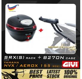 GIVI B270N TOP CASE + GIVI YAMAHA NVX155 2021 SRX(S) EXTREME SPEACIAL RACK