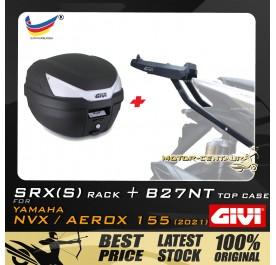 GIVI B27NT TOP CASE + GIVI YAMAHA NVX155 2021 SRX(S) EXTREME SPEACIAL RACK