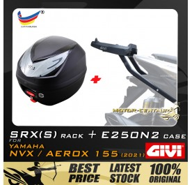 GIVI E250N2 TOP CASE + GIVI YAMAHA NVX155 2021 SRX(S) EXTREME SPEACIAL RACK