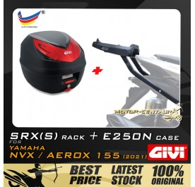 GIVI E250N TOP CASE + GIVI YAMAHA NVX155 2021 SRX(S) EXTREME SPEACIAL RACK