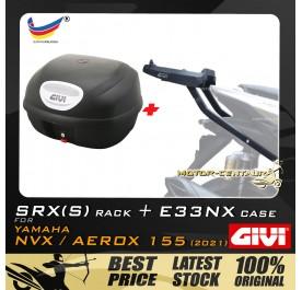 GIVI E33NX TOP CASE + GIVI YAMAHA NVX155 2021 SRX(S) EXTREME SPEACIAL RACK