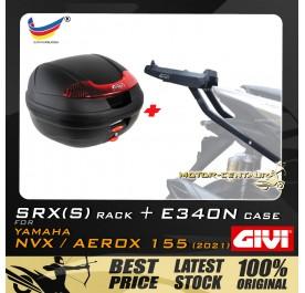 GIVI E340N TOP CASE + GIVI YAMAHA NVX155 2021 SRX(S) EXTREME SPEACIAL RACK