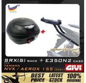GIVI E350N2 TOP CASE + GIVI YAMAHA NVX155 2021 SRX(S) EXTREME SPEACIAL RACK
