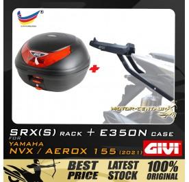 GIVI E350N TOP CASE + GIVI YAMAHA NVX155 2021 SRX(S) EXTREME SPEACIAL RACK