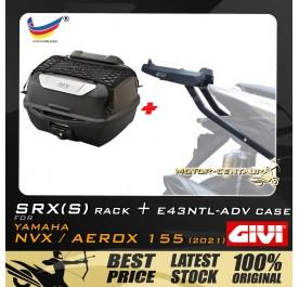 GIVI E43NTL-ADV TOP CASE + GIVI YAMAHA NVX155 2021 SRX(S) EXTREME SPEACIAL RACK