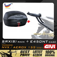 GIVI E450NT TOP CASE + GIVI YAMAHA NVX155 2021 SRX(S) EXTREME SPEACIAL RACK