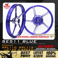 MUTAKIN SPORT RIMS W/BEARINGS SE511 1.60X17 (F) 1.60X17(R) Y135LC BLUE