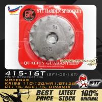 STT HARDEN STEEL FRONT SPROCKET (SF1-05-16T) KRISS-415-16T