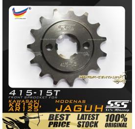 SSS FRONT SPROCKET STEEL KR150 (JAGUH) 415-15T