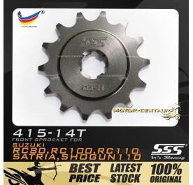 SSS FRONT SPROCKET STEEL RC 415-14T