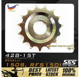 SSS FRONT SPROCKET STEEL RFS150I 428-15T