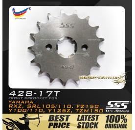 SSS FRONT SPROCKET STEEL RXZ 428-17T