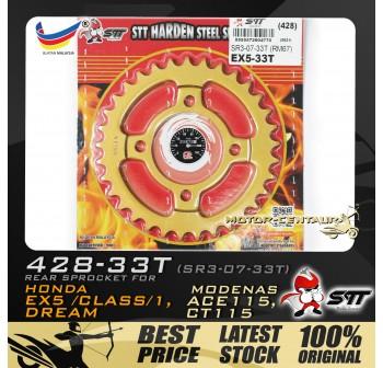 STT REAR SPROCKET (SR3-07-33T) EX5 428-33T GOLD