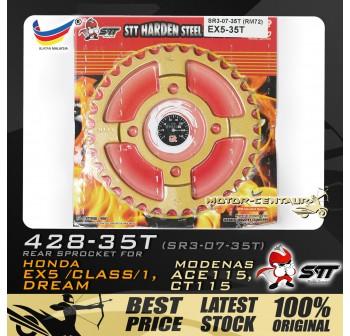 STT REAR SPROCKET (SR3-07-35T) EX5 428-35T GOLD