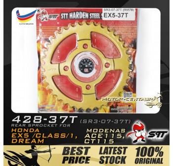 STT REAR SPROCKET (SR3-07-37T) EX5 428-37T GOLD