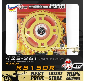 STT REAR SPROCKET (SR3-21-36T) RS150R 428-36T GOLD