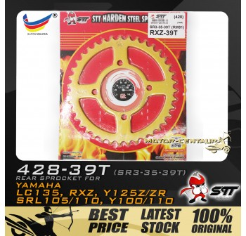 STT REAR SPROCKET (SR3-35-39T) RXZ 428-39T GOLD