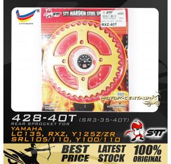 STT REAR SPROCKET (SR3-35-40T) RXZ 428-40T GOLD