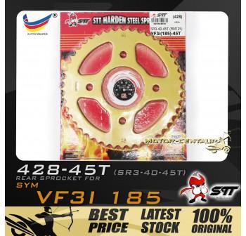 STT REAR SPROCKET (SR3-40-45T) VF3I 428-45T GOLD