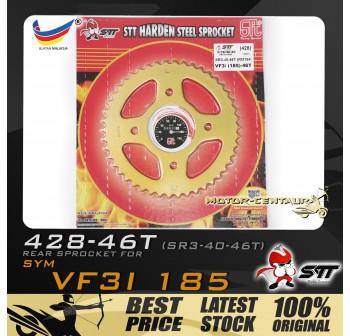 STT REAR SPROCKET (SR3-40-46T) VF3I 428-46T GOLD