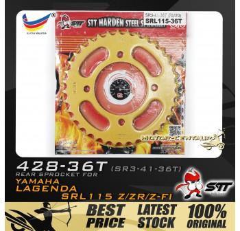 STT REAR SPROCKET (SR3-41-36T) SRL115 428-36T GOLD