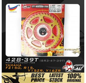 STT REAR SPROCKET (SR3-47-39T) Y15ZR 428-39T GOLD