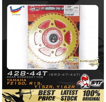 STT REAR SPROCKET (SR3-47-44T) Y15ZR 428-44T GOLD