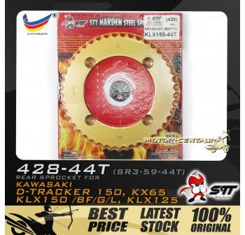 STT REAR SPROCKET (SR3-59-44T) KLX150 428-44T GOLD