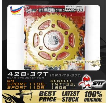 STT REAR SPROCKET (SR3-79-37T) SM SPORT 428-37T GOLD