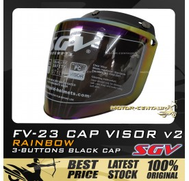 SGV CAP VISOR 2 FV-23 RAINBOW WITH BLACK CAP FOR MS88, MHR, SGV