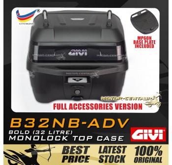GIVI TOP CASE (NO LIGHT) B32NB-ADV [BLACK PLATE, FULL ACCESSORIES]