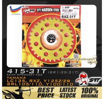 STT REAR SPROCKET (SR1-35-31T) RXZ-415-31T GOLD