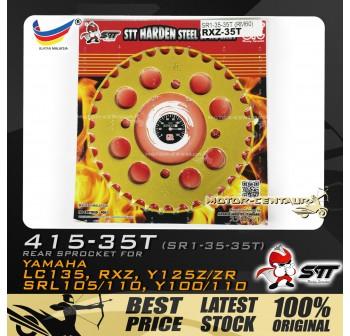 STT REAR SPROCKET (SR1-35-35T) RXZ-415-35T GOLD