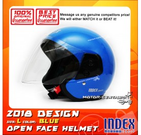 INDEX HELMET METALLIC BLUE