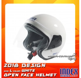 INDEX HELMET METALLIC WHITE