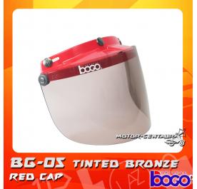BOGO VISOR BG-05 TINTED WITH RED CAP