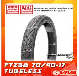 VIVA TUBELESS TYRE FT238 70/90-17
