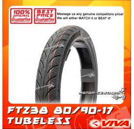VIVA TUBELESS TYRE FT238 80/90-17