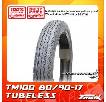 TMAX TUBELESS TYRE TM100 80/90-17